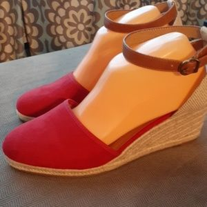 Style & Co espadrilles like new red 9.5